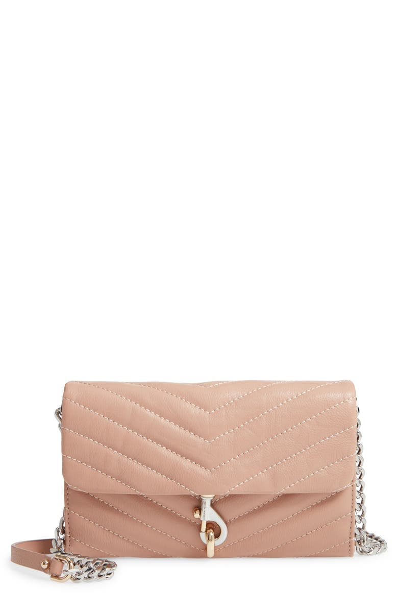 REBECCA MINKOFF Edie Quilted Leather Crossbody Wallet 原價港幣1577.03 優惠價946.22