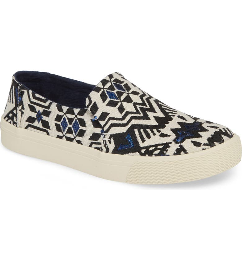 TOMS Sunset Slip-On, Main, color, STELLAR BLUE FABRIC