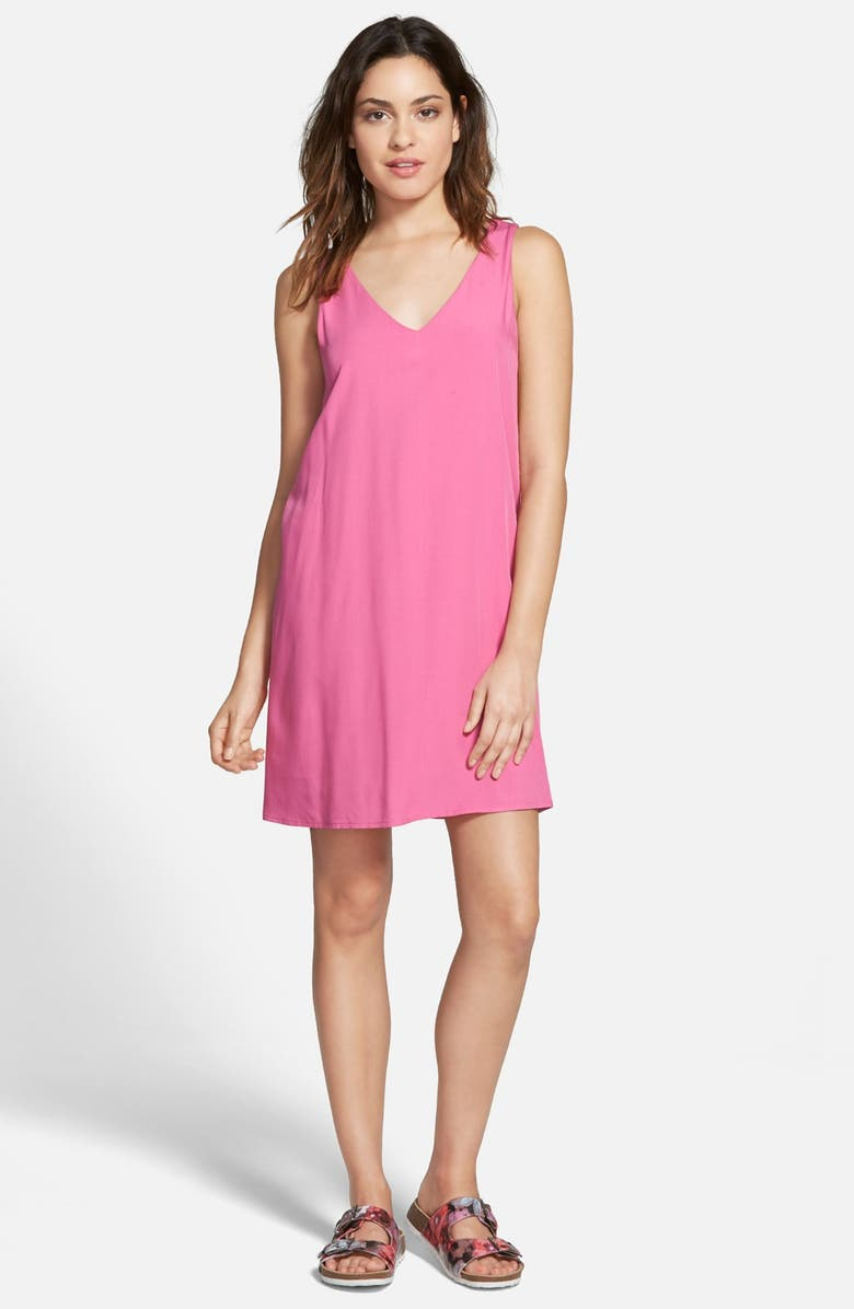 EVERLY Bow Back Shift Dress, Main, color, 650