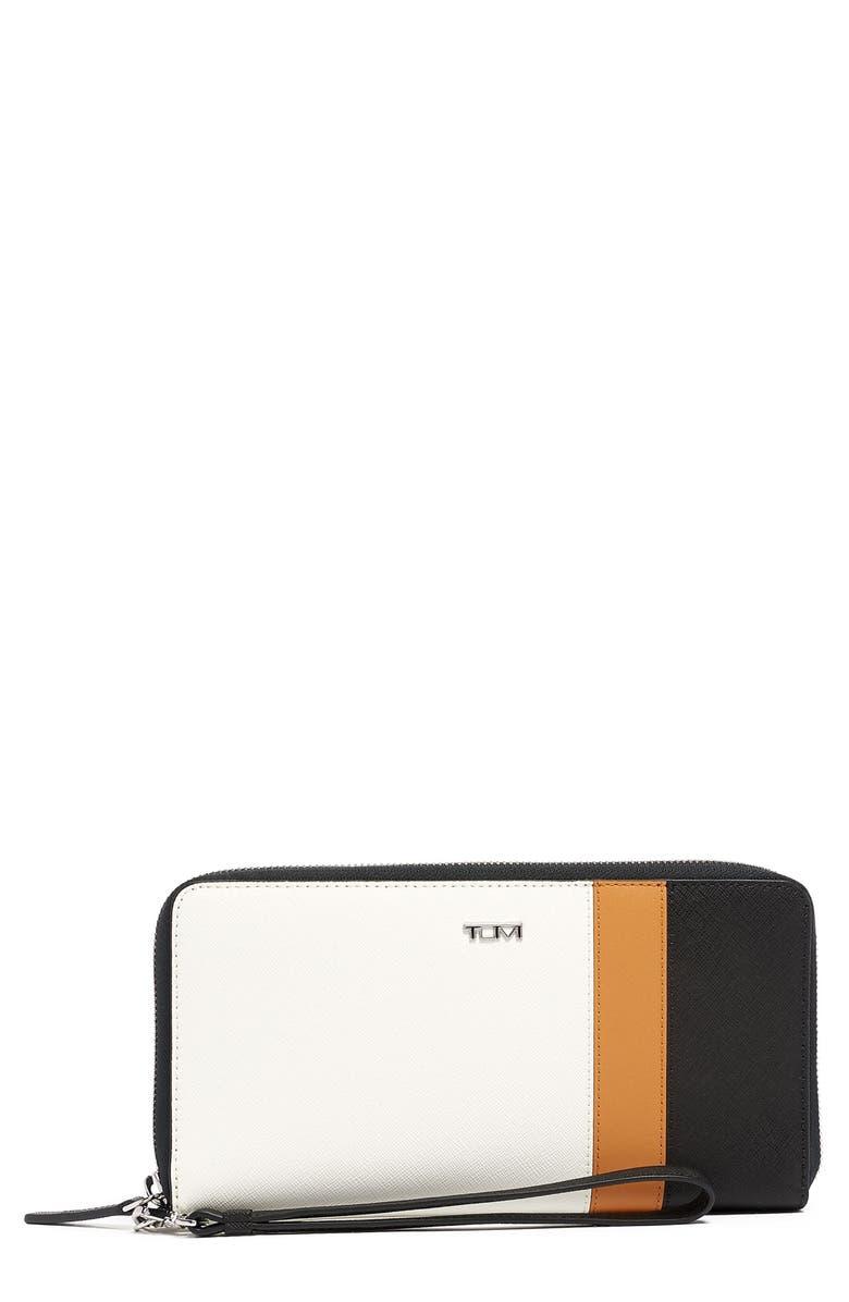TUMI Belden Leather Travel Wallet, Main, color, SPECTATOR