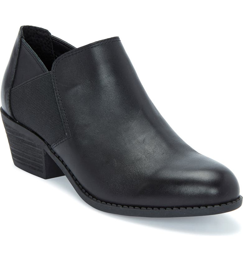 ME TOO Zo Bootie, Main, color, BLACK/BLACK LEATHER