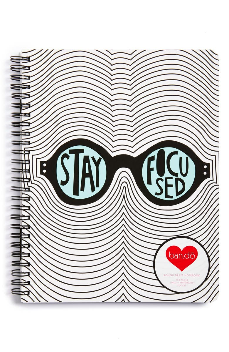 BAN.DO 'Stay Focused' Notebook, Main, color, 001