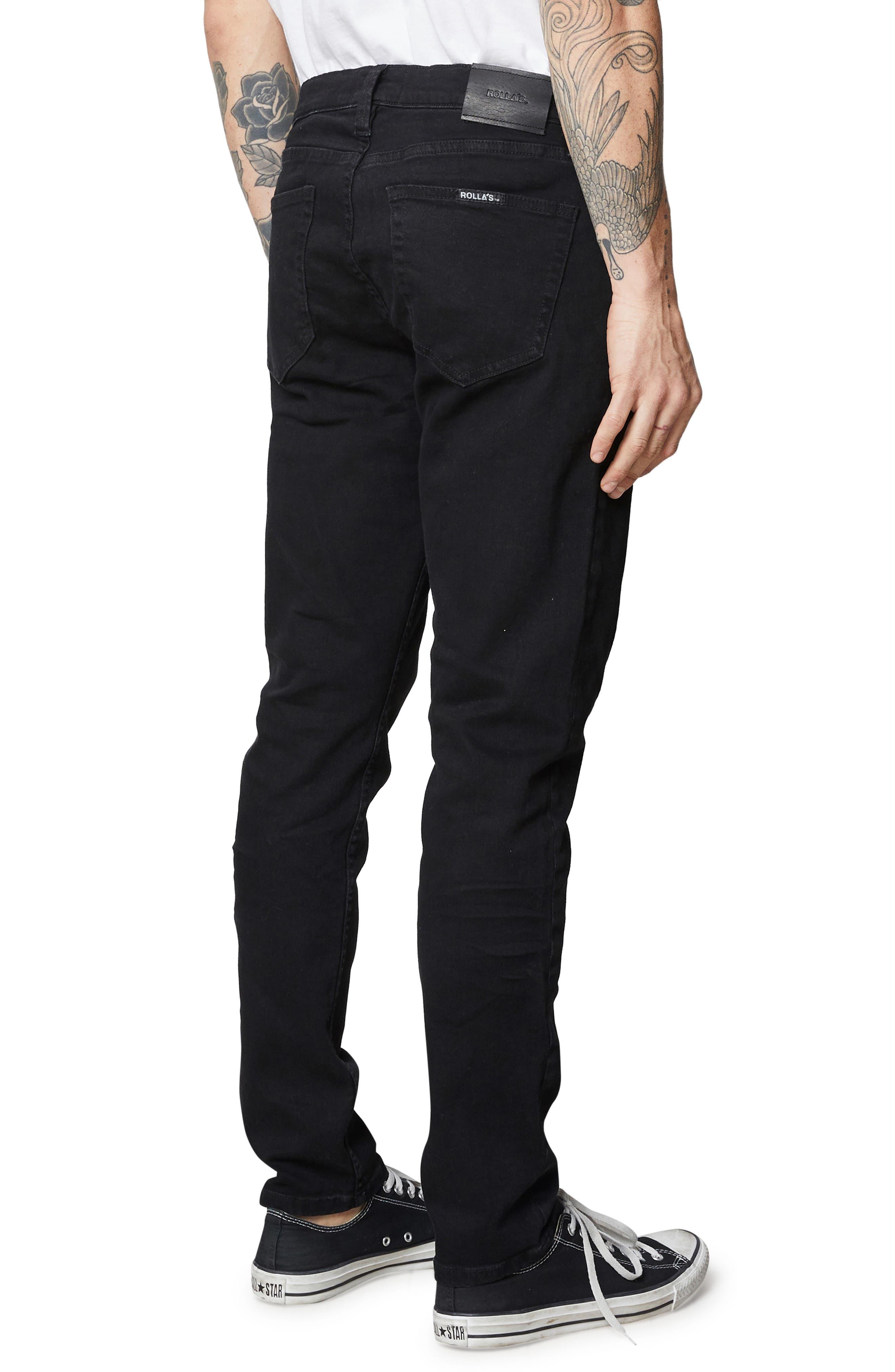 ,                             Tim Slim Fit Jeans,                             Alternate thumbnail 6, color,                             BLACK RAVEN