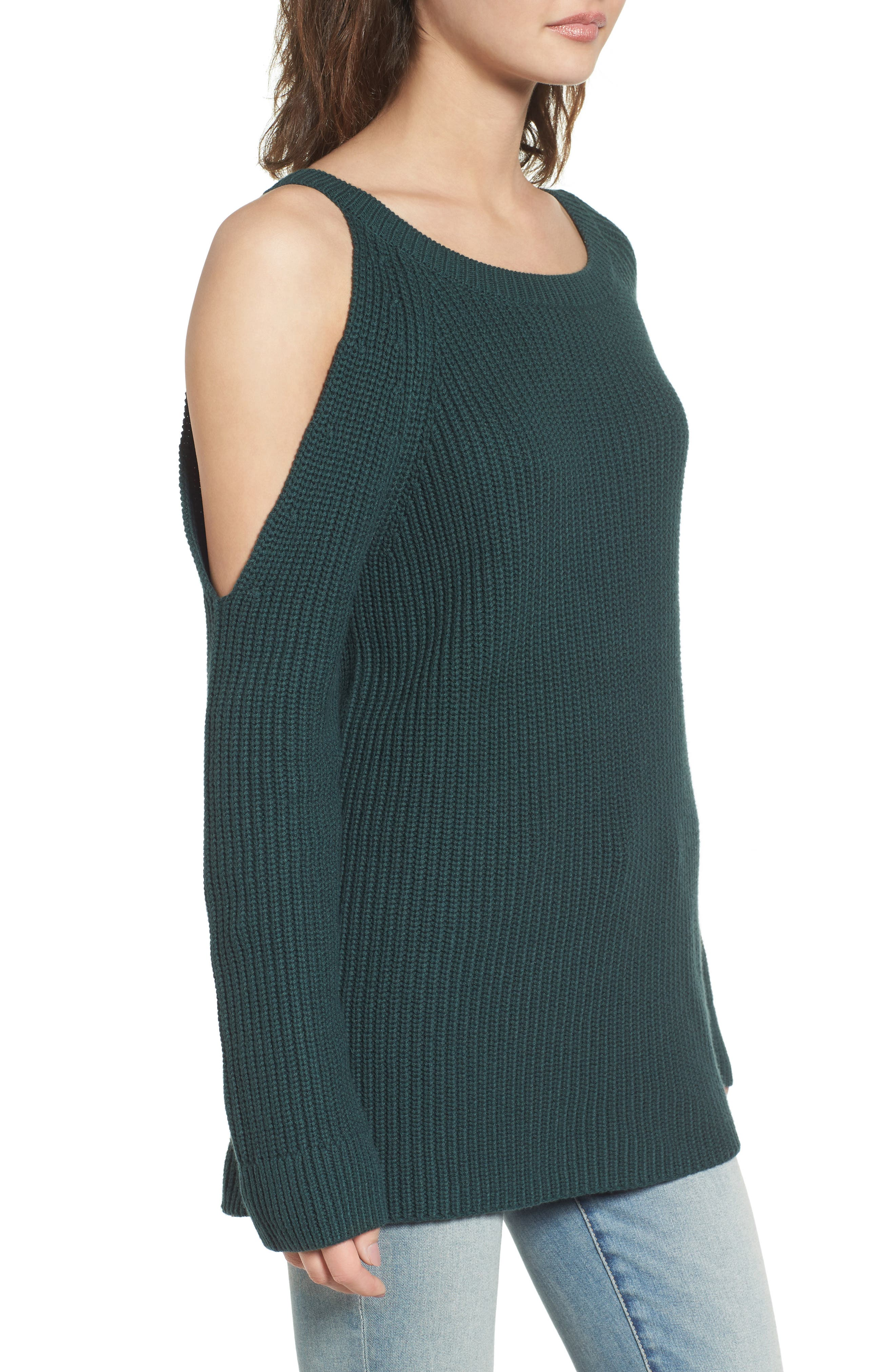 ,                             Asymmetrical Cold Shoulder Sweater,                             Alternate thumbnail 9, color,                             300