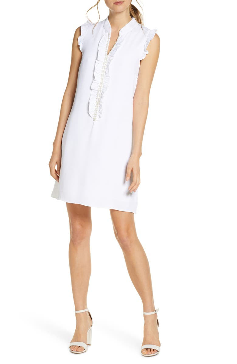 LILLY PULITZER<SUP>®</SUP> Adalee Shift Dress, Main, color, RESORT WHITE