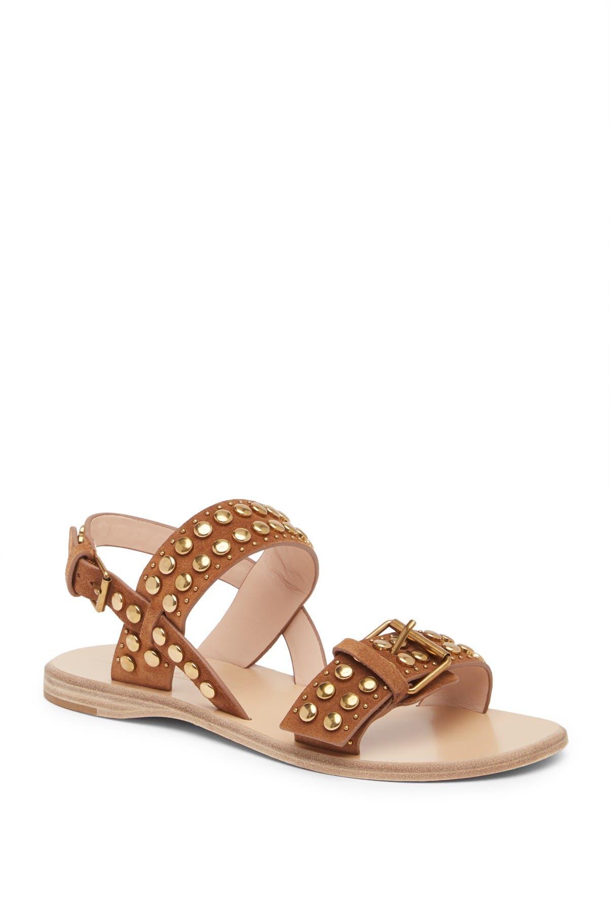 Image of Marc Jacobs Tawny Flat Studded Leather Sandal