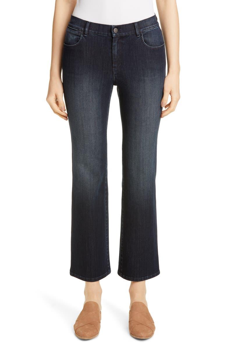 LAFAYETTE 148 NEW YORK Mercer Crop Flare Jeans, Main, color, INDIGO