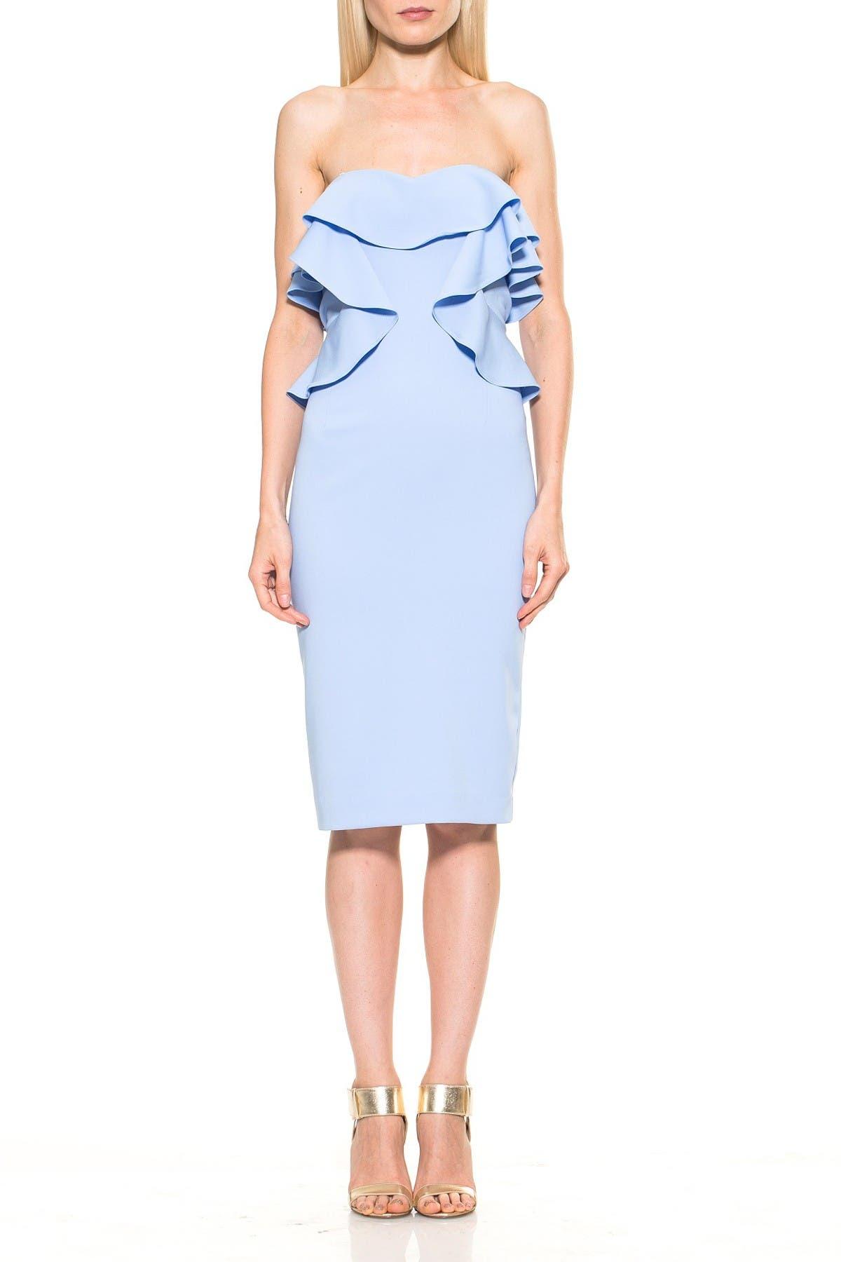 Image of Alexia Admor Strapless Ruffle Dress