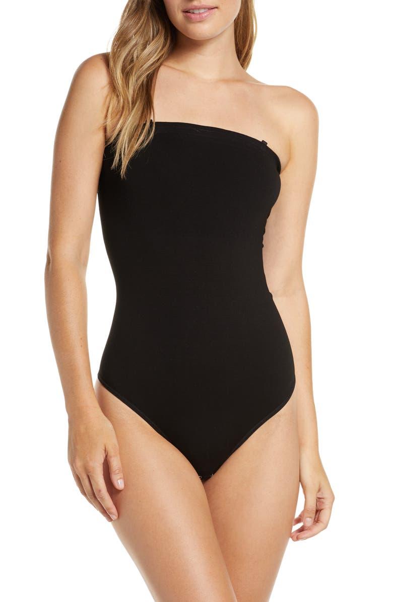 YUMMIE Geri Convertible Thong Bodysuit, Main, color, BLACK