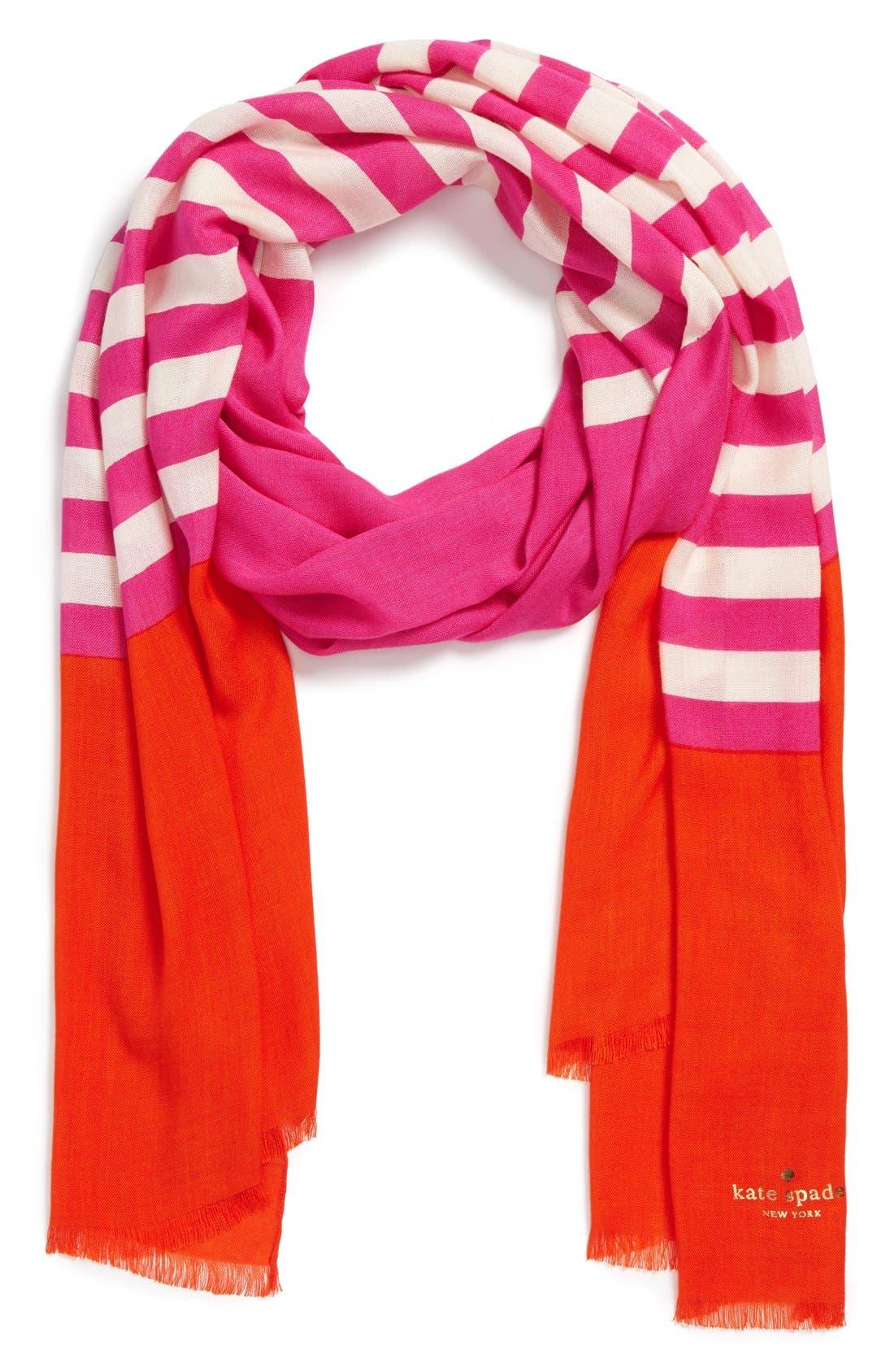 ,                             'six month stripe' scarf,                             Main thumbnail 10, color,                             800