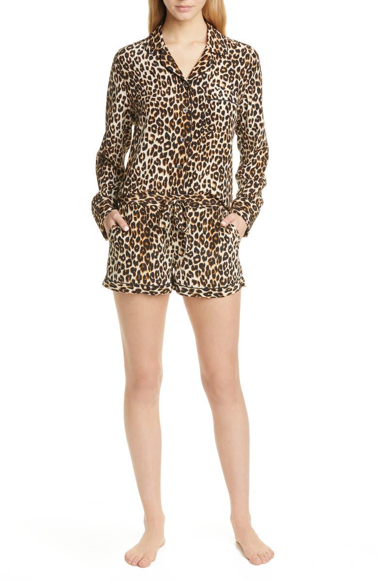 EQUIPMENT Lillian Silk Short Pajamas, Main, color, NATURAL