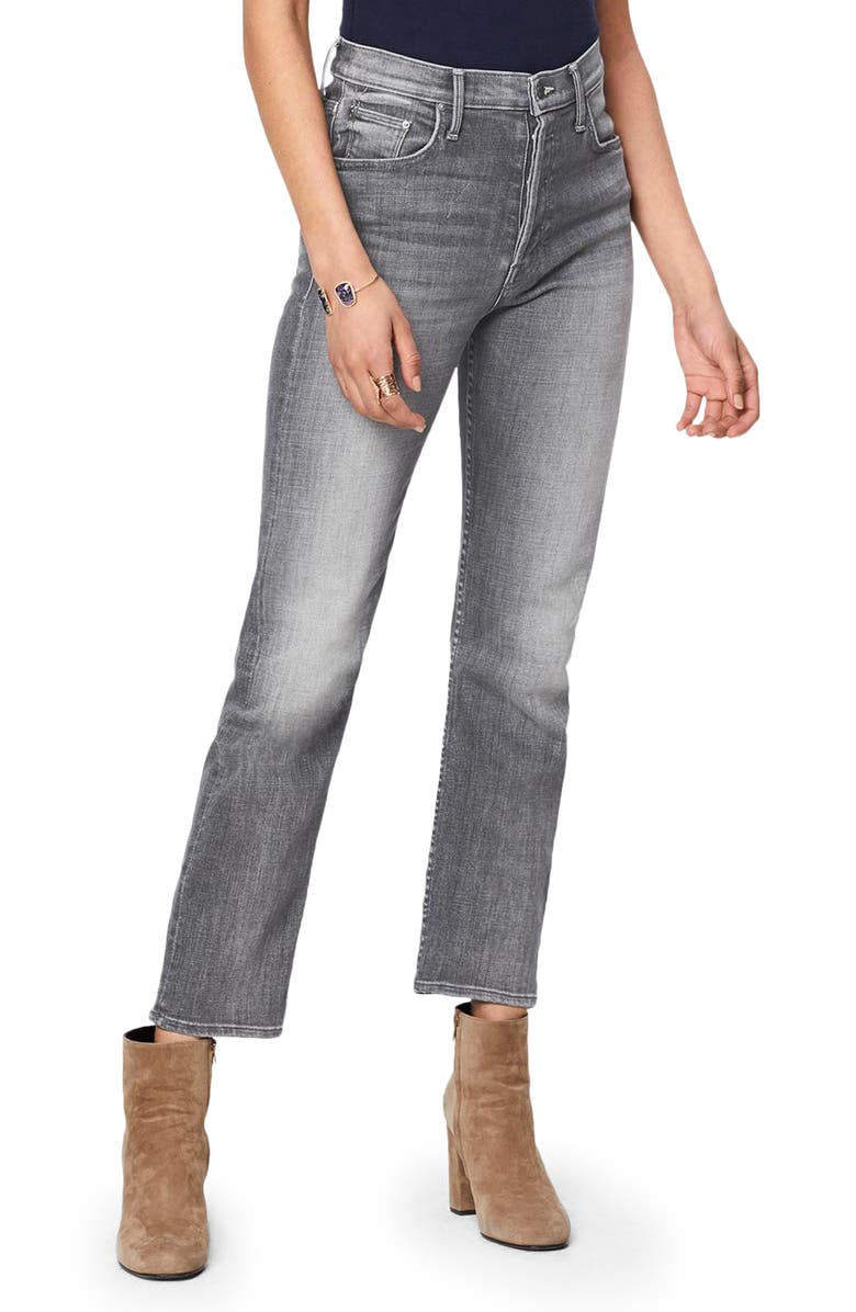 MOTHER The Tomcat High Waist Ankle Straight Leg Jeans, Main, color, BEAM ME UP