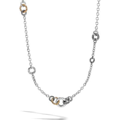 John Hardy Classic Chain Hammered Link Sautoir Necklace