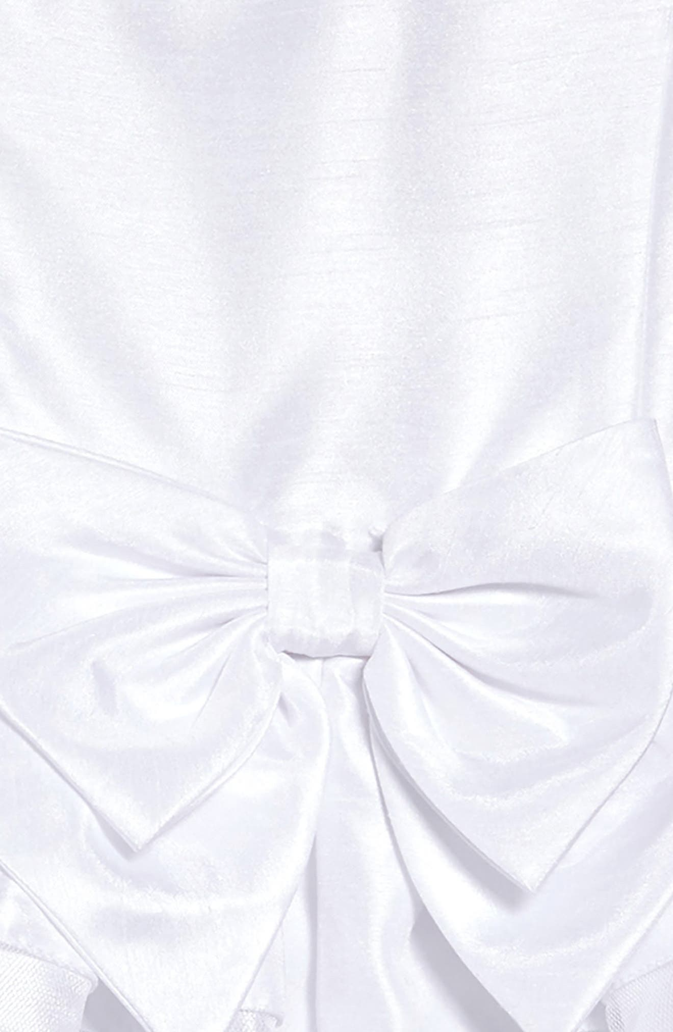 ,                             Shadow Stripe Bow Dress,                             Alternate thumbnail 3, color,                             WHITE