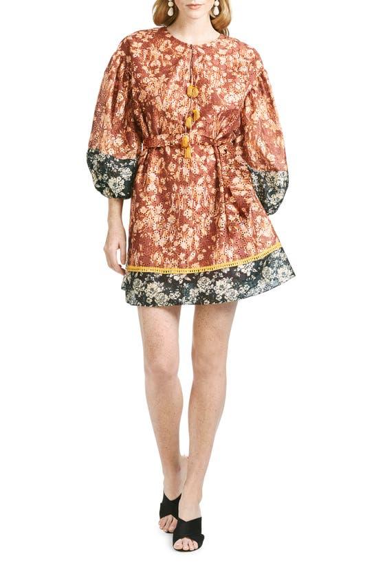 Sachin & Babi TABITHA MIX FLORAL EYELET DRESS