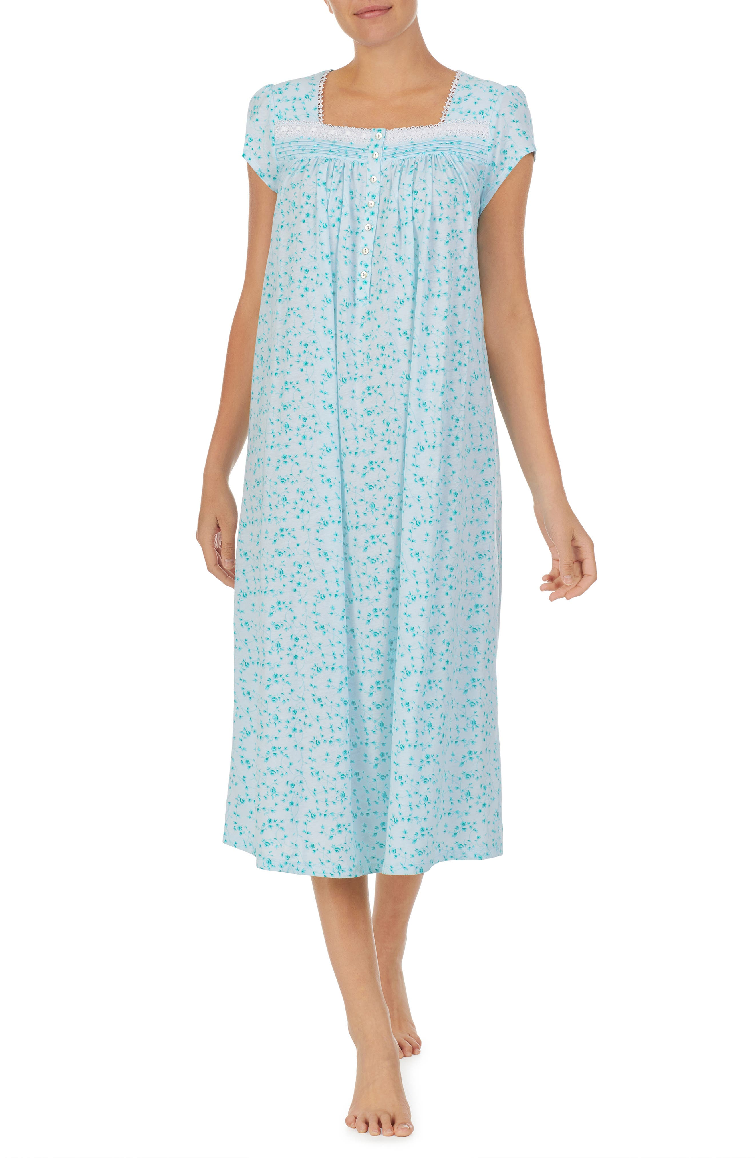 Waltz Cap Sleeve Cotton Jersey Nightgown