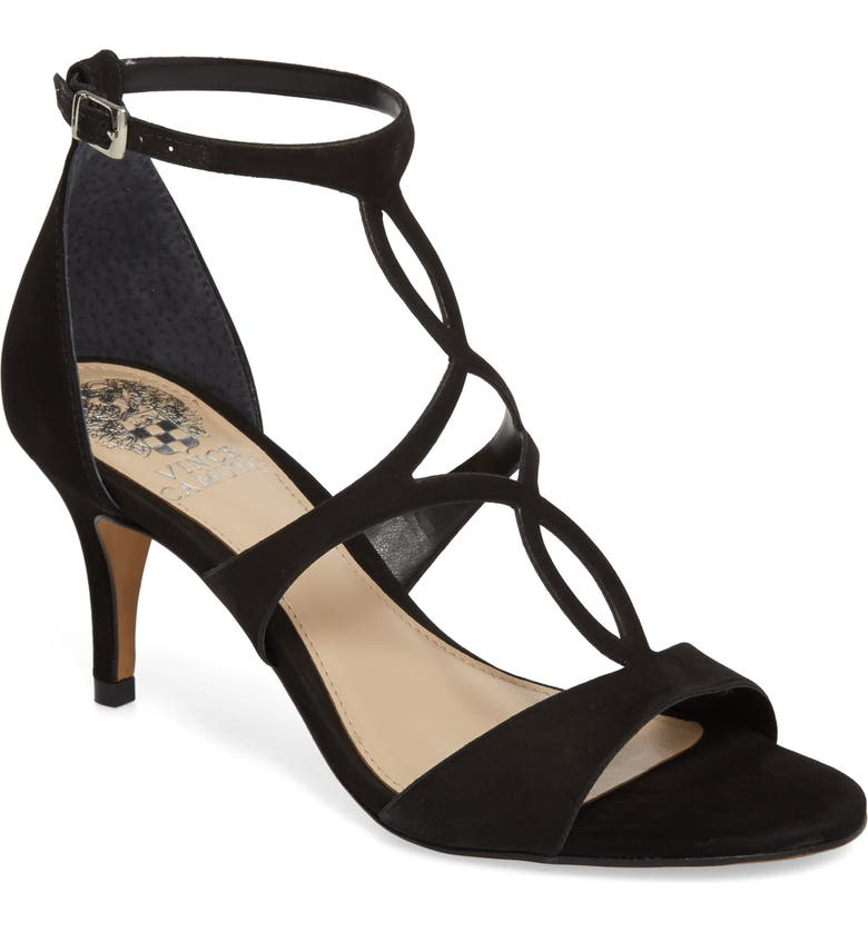 VINCE CAMUTO Payto Sandal, Main, color, BLACK LEATHER