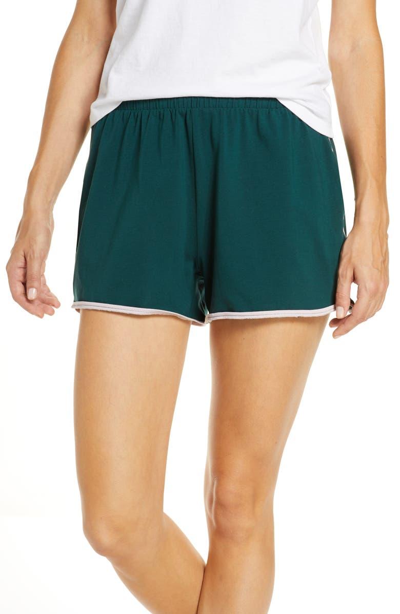 MADEWELL Knit Bedtime Pajama Shorts, Main, color, 440