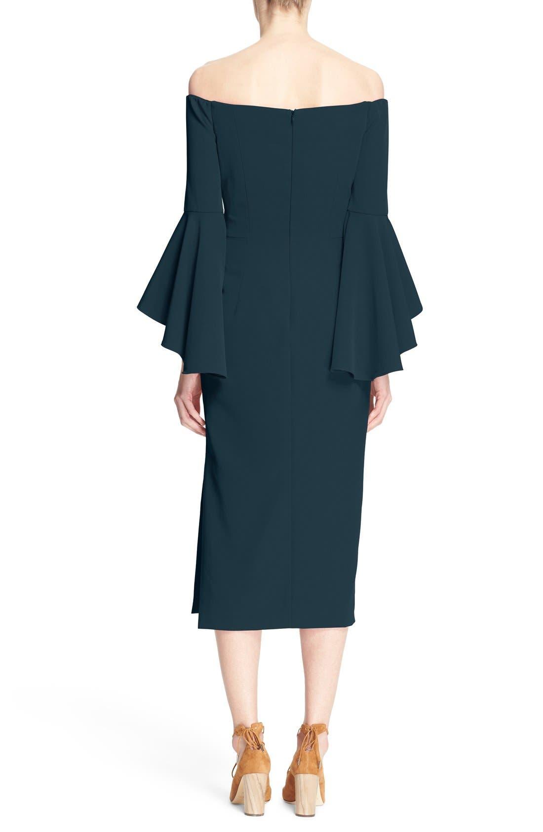 ,                             Selena Off the Shoulder Midi Dress,                             Alternate thumbnail 46, color,                             422