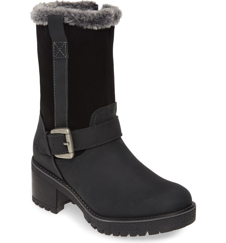 BOS. & CO. Maine Waterproof Boot, Main, color, BLACK LEATHER