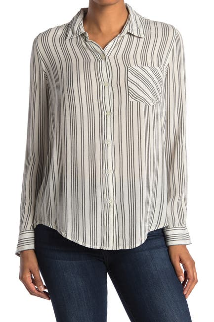Image of Lucky Brand Striped Tunic Shirt