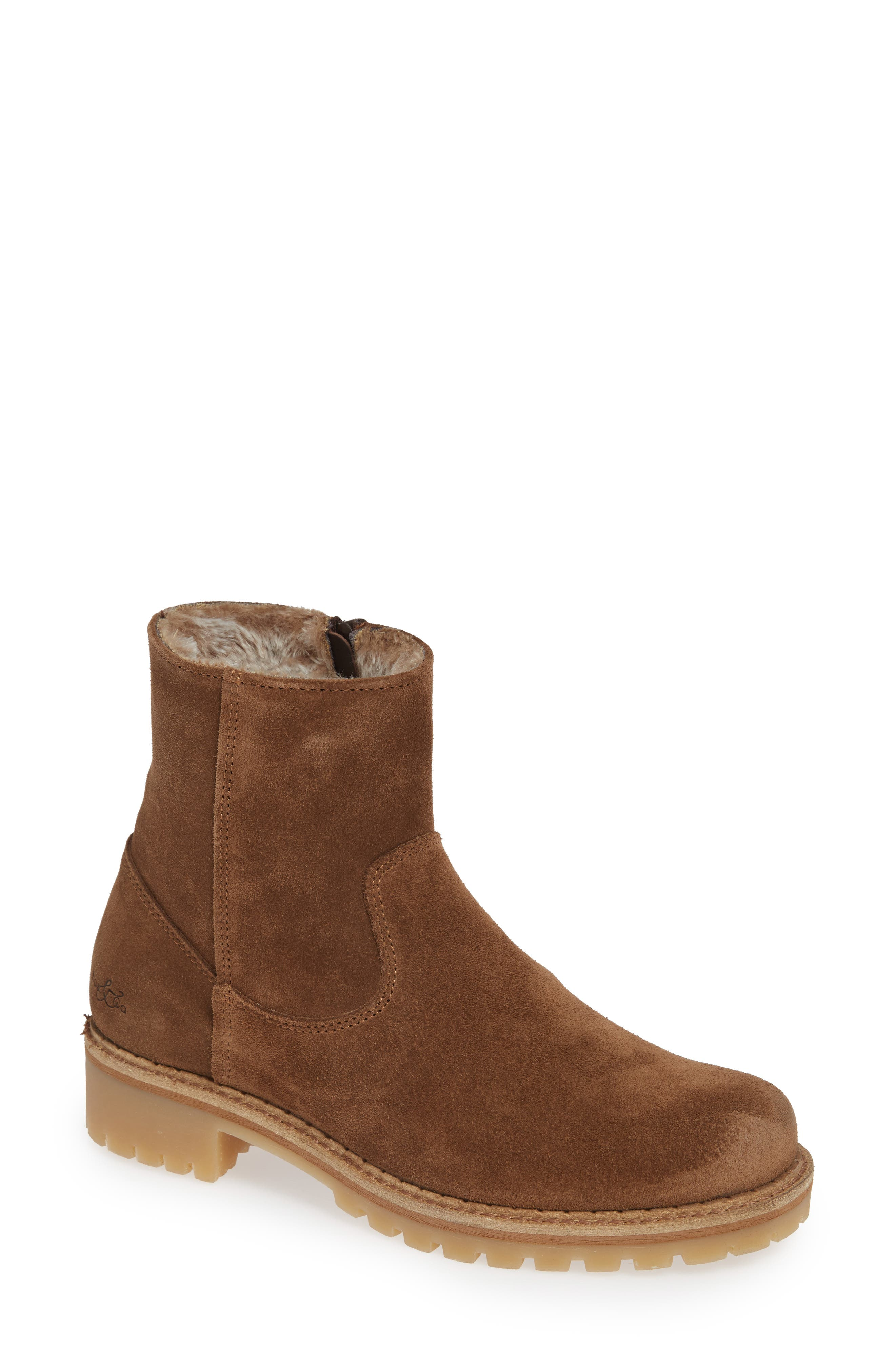 ,                             Host Faux Fur Lined Boot,                             Main thumbnail 1, color,                             TAN SUEDE