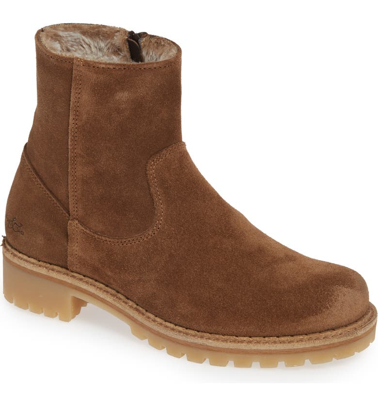 BOS. & CO. Host Faux Fur Lined Boot, Main, color, TAN SUEDE
