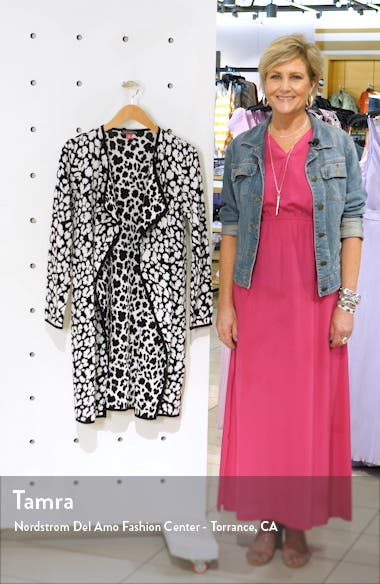 Cheetah Open Front Maxi Cardigan, sales video thumbnail