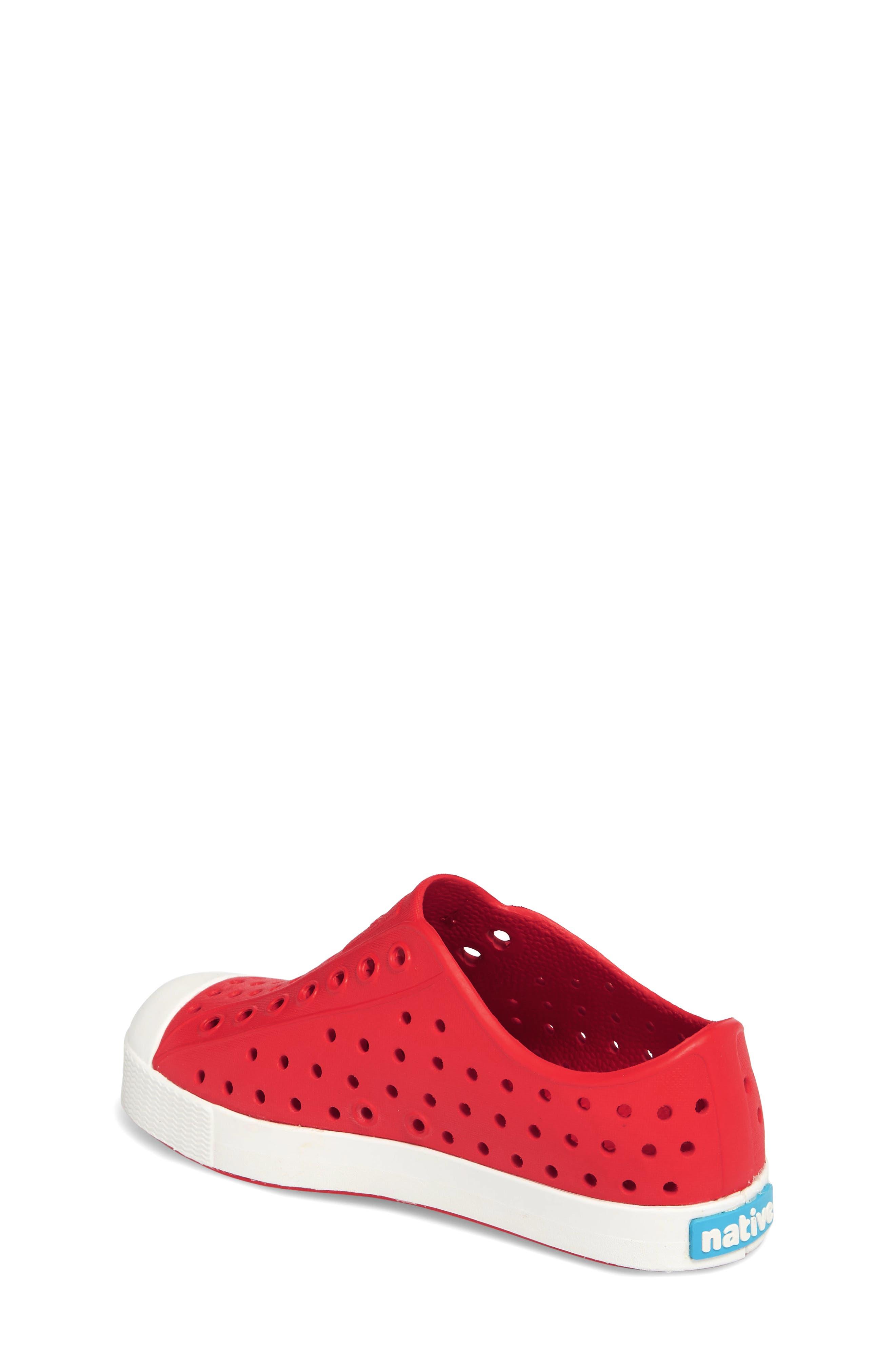 ,                             Jefferson Water Friendly Slip-On Vegan Sneaker,                             Alternate thumbnail 2, color,                             TORCH RED/ SHELL WHITE