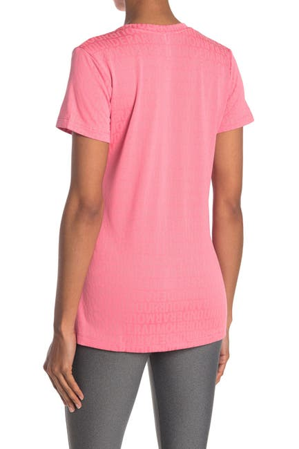 Image of Under Armour Tech Jacquard Short Sleeve V-Neck Top