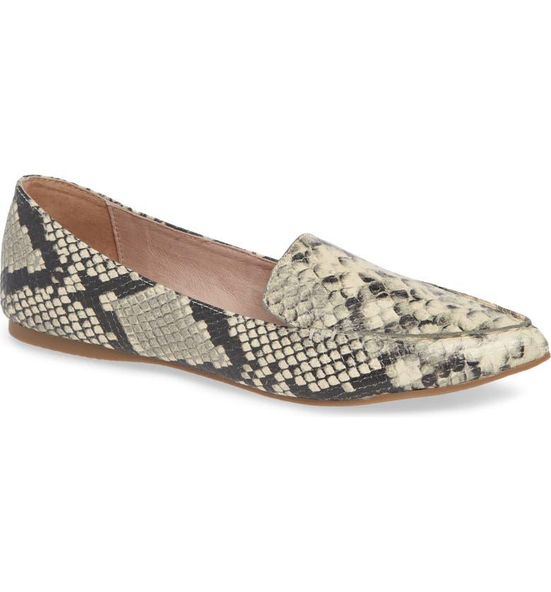 STEVE MADDEN Feather Loafer, Main, color, SNAKE PRINT LEATHER
