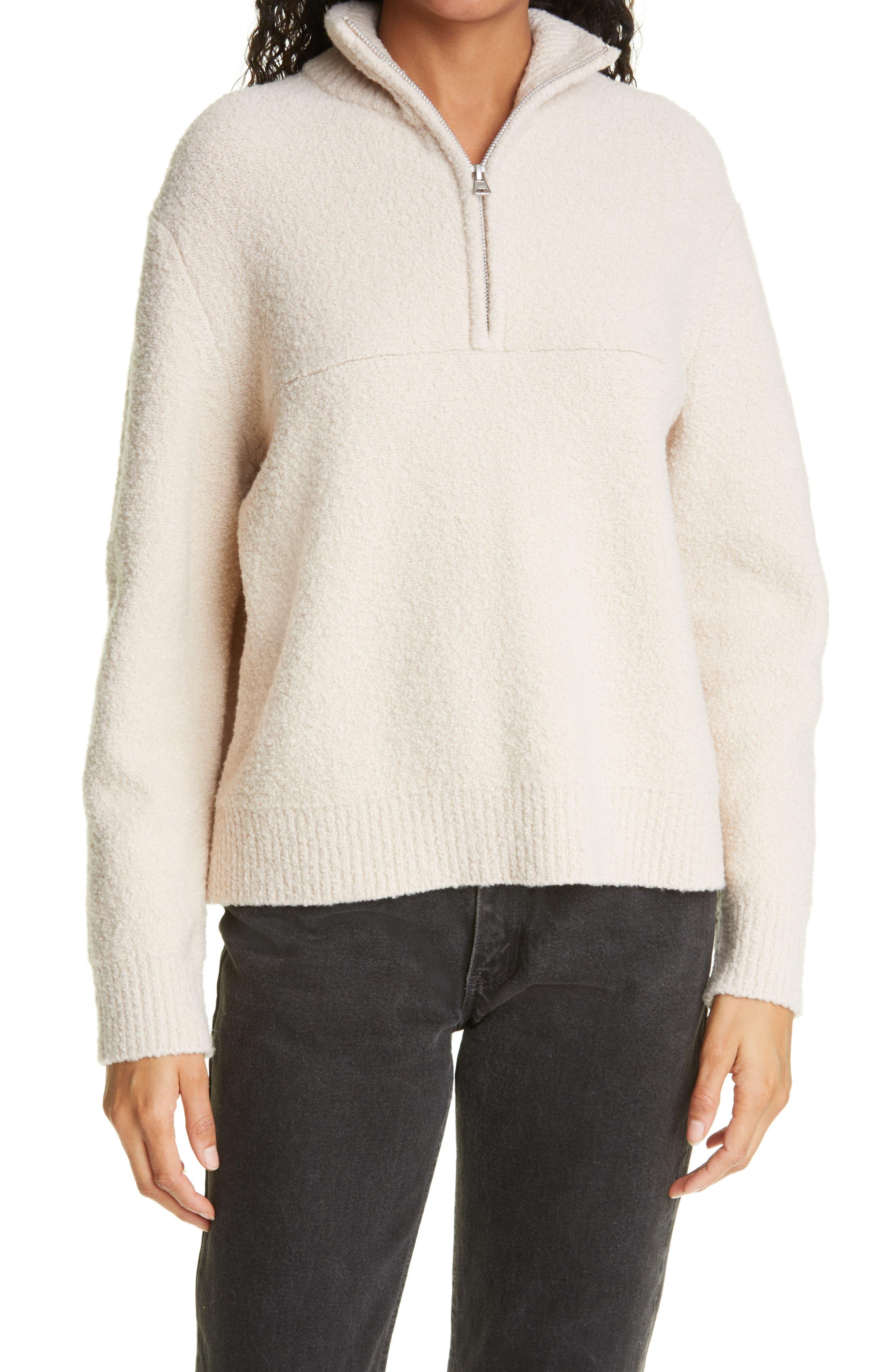 Merino Wool Half Zip Pullover