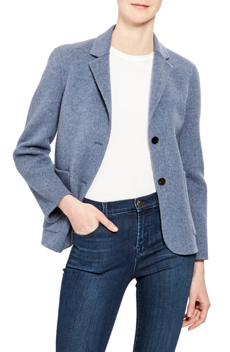 THEORY Shrunken Wool & Cashmere Blazer, Main, color, 400