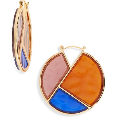Lizzie Fortunato Glass Mosaic Hoop Earrings