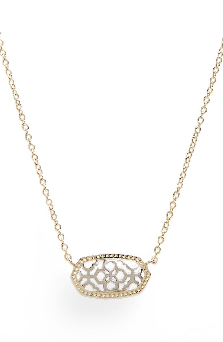 KENDRA SCOTT Elisa Pendant Necklace, Main, color, SILVER FILIGREE/ GOLD