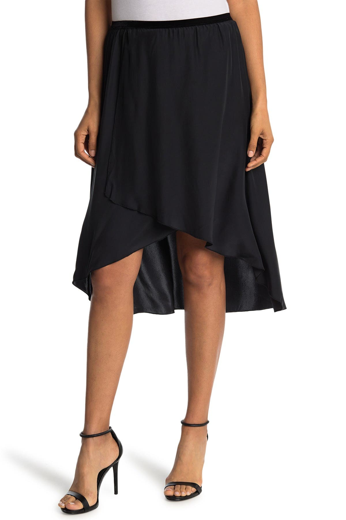 Image of Go by go Silk Go Get Wrapped in Ruffles Silk Skirt