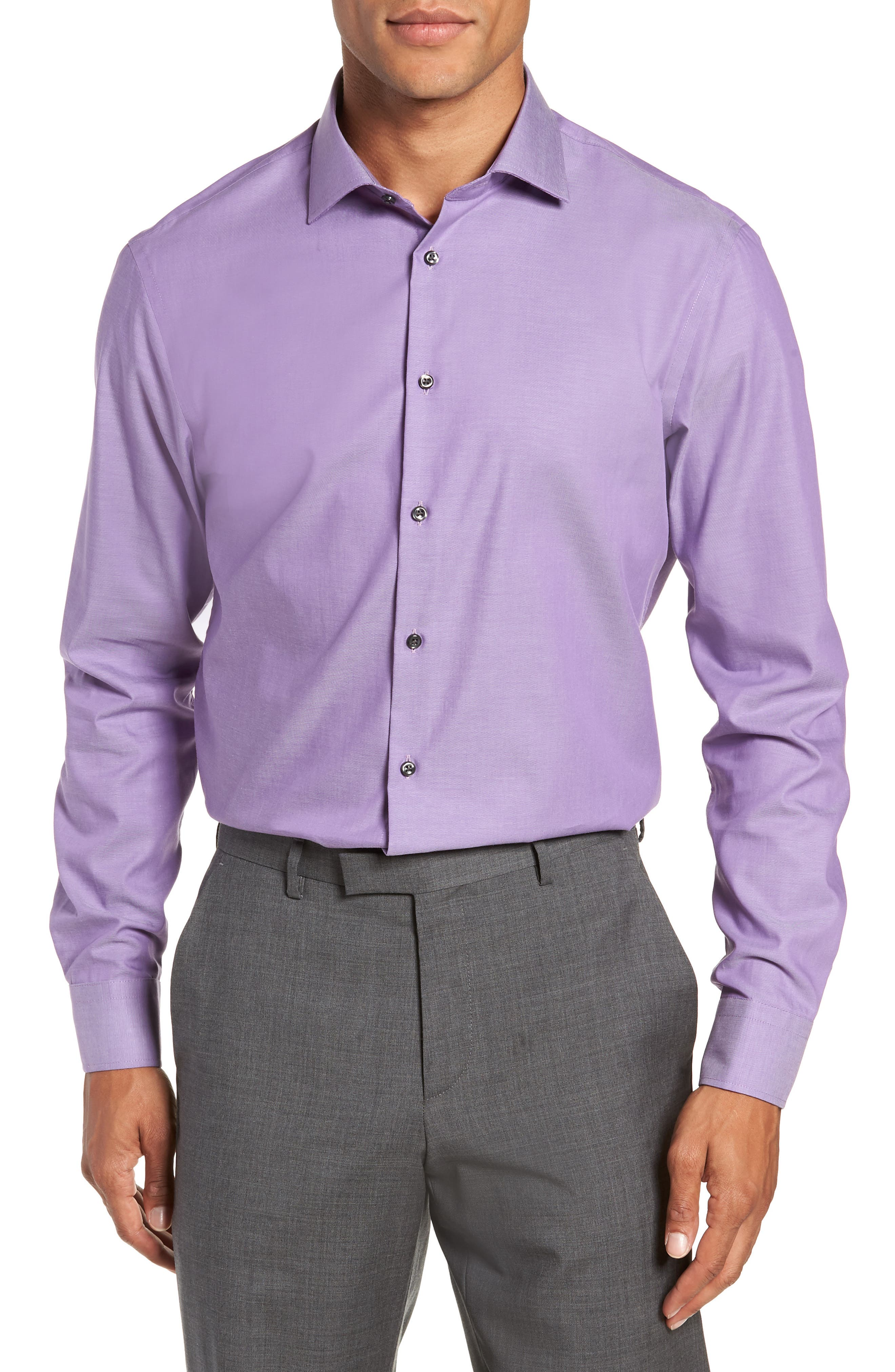 ,                             Extra Trim Fit Non-Iron Solid Dress Shirt,                             Main thumbnail 25, color,                             510