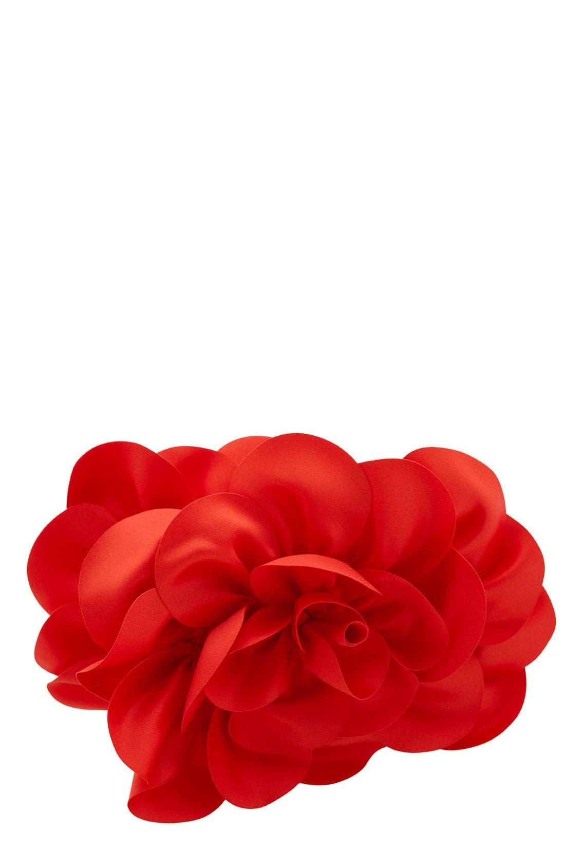 ,                             'Rose' Satin Box Clutch,                             Main thumbnail 14, color,                             600