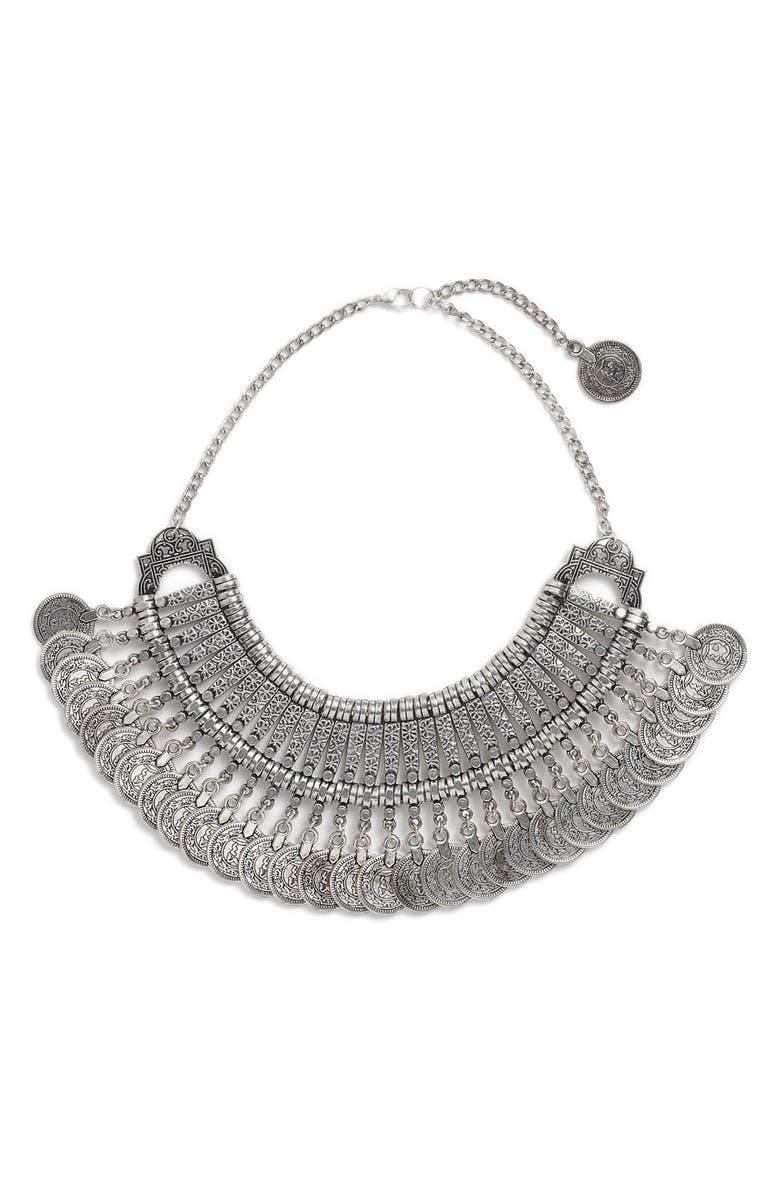 RAGA 'Gypsy Coin' Bib Necklace, Main, color, 040