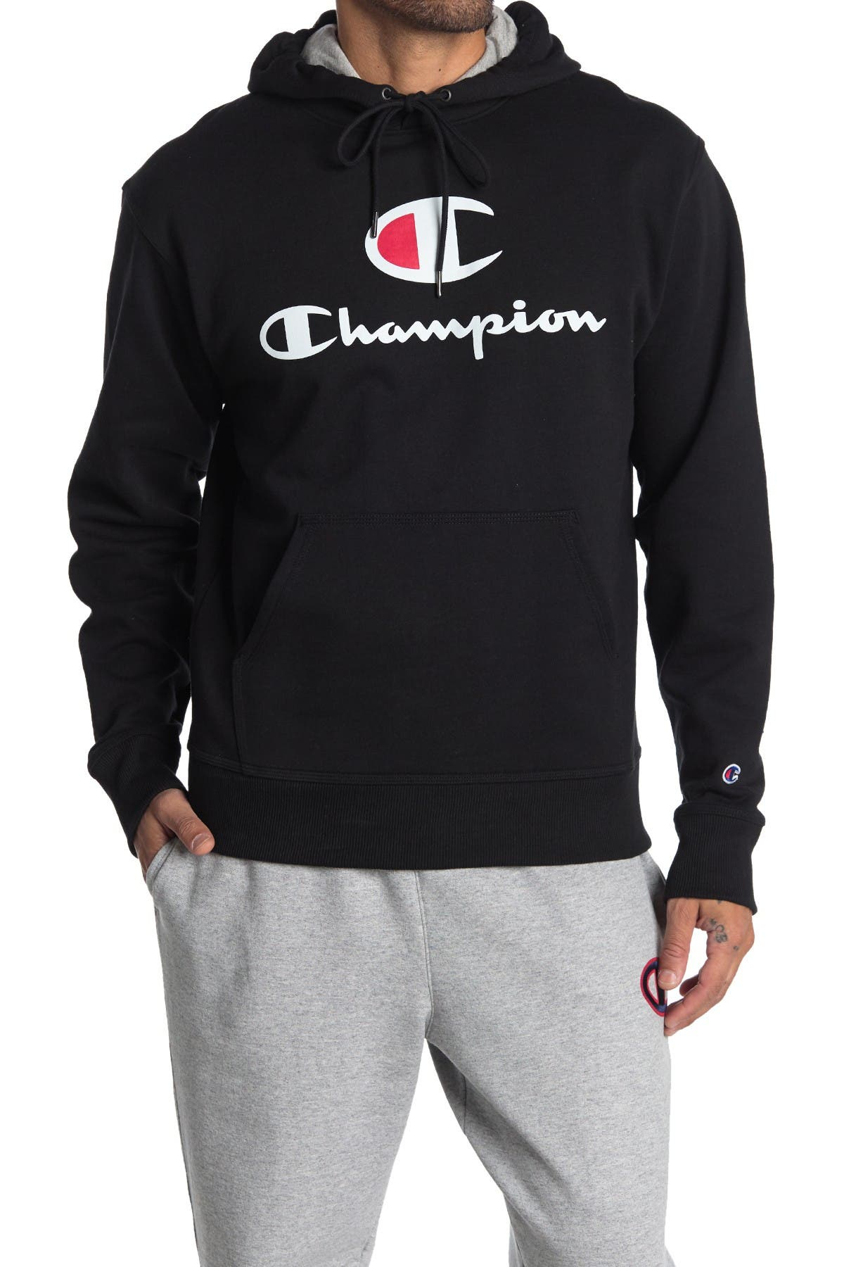 Image of Champion Powerblend Screenprint Hoodie