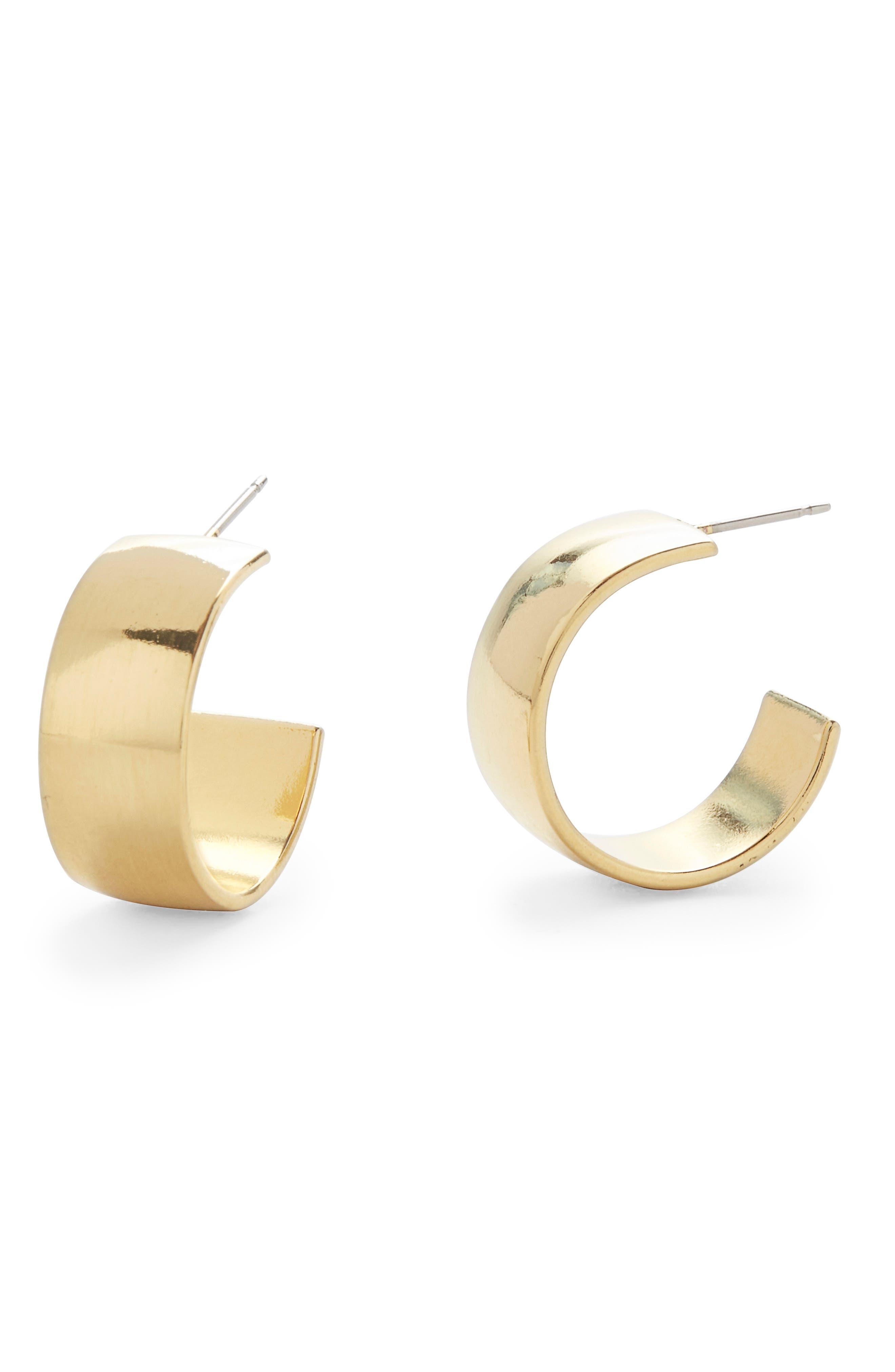 Alanna Flat Hoop Earrings