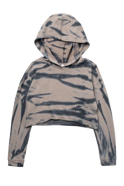 Image of Z by Zella Girl Mosey Tie Dye Cropped Hoodie