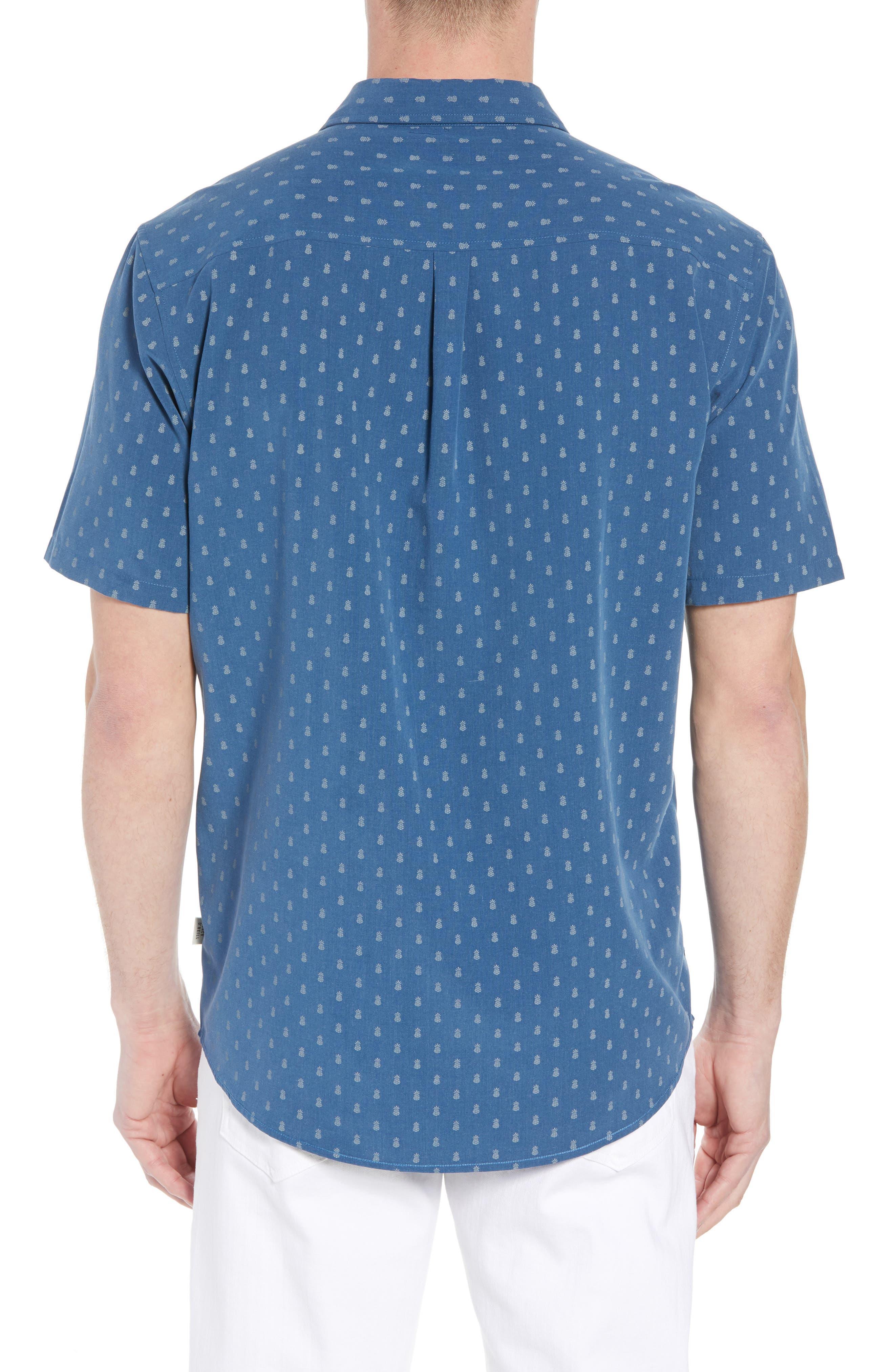 ,                             Home Grown Pineapple Sport Shirt,                             Alternate thumbnail 2, color,                             COBALT