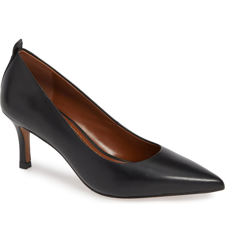 0389a3e40fa Waverly Mid Heel Pump, Main, color, BLACK LEATHER