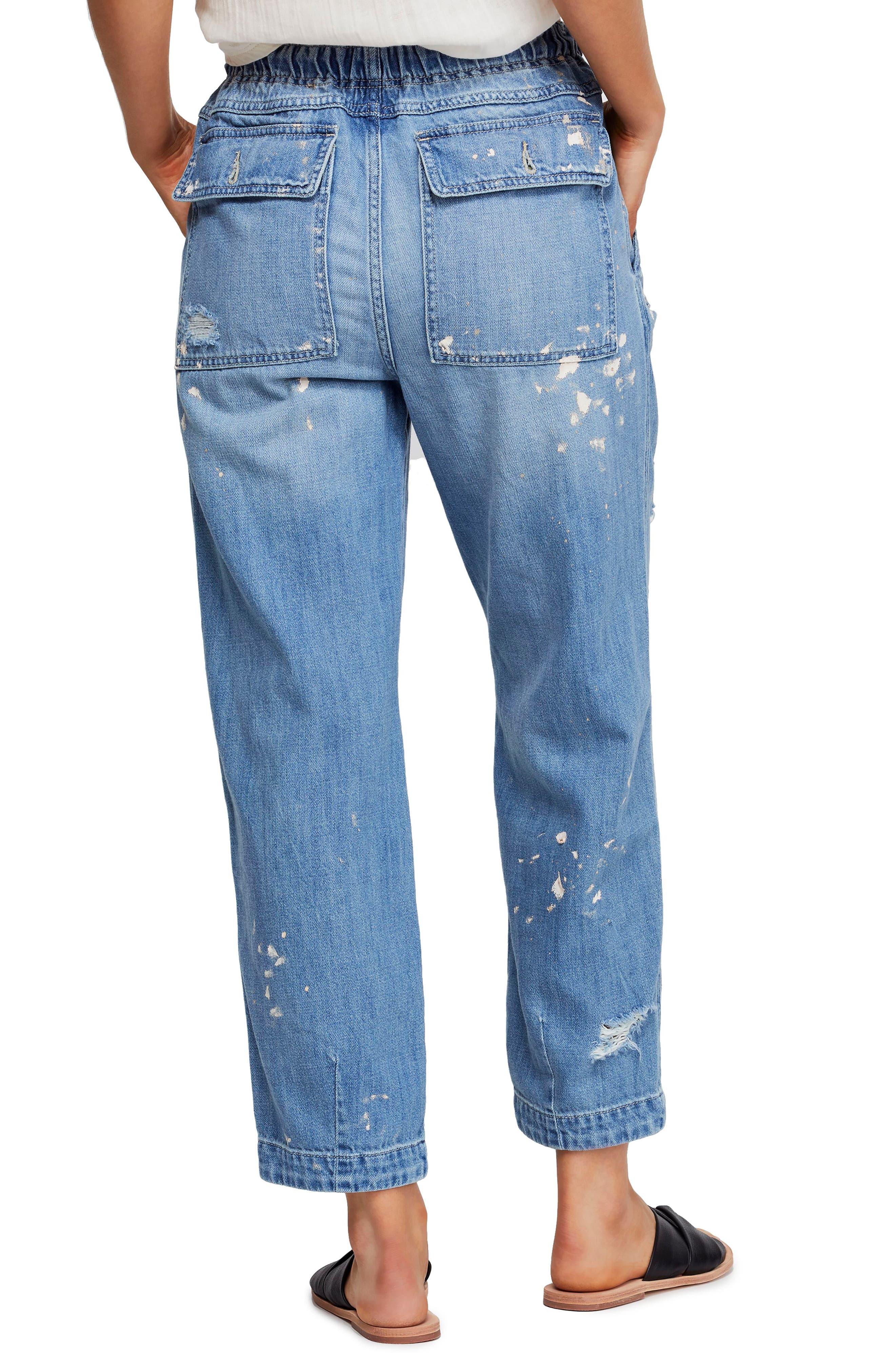,                             Ripped Straight Leg Jeans,                             Alternate thumbnail 2, color,                             400