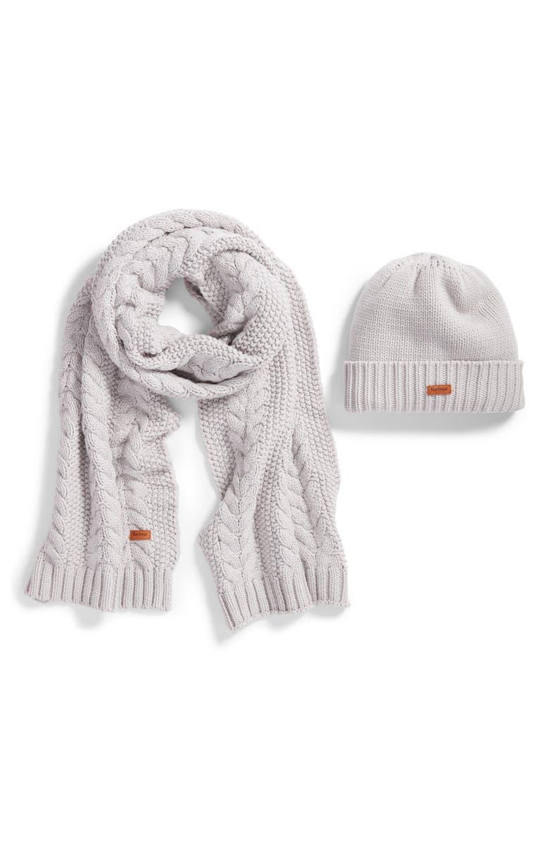 fe0767ea Barbour Cable Knit Hat & Scarf Set | Nordstrom