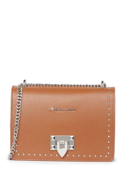 Image of Persaman New York Alison Studded Crossbody Chain Shoulder Bag