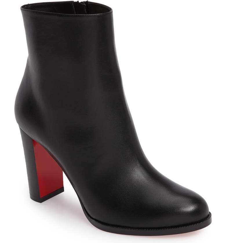 CHRISTIAN LOUBOUTIN Adox Boot, Main, color, BLACK LEATHER