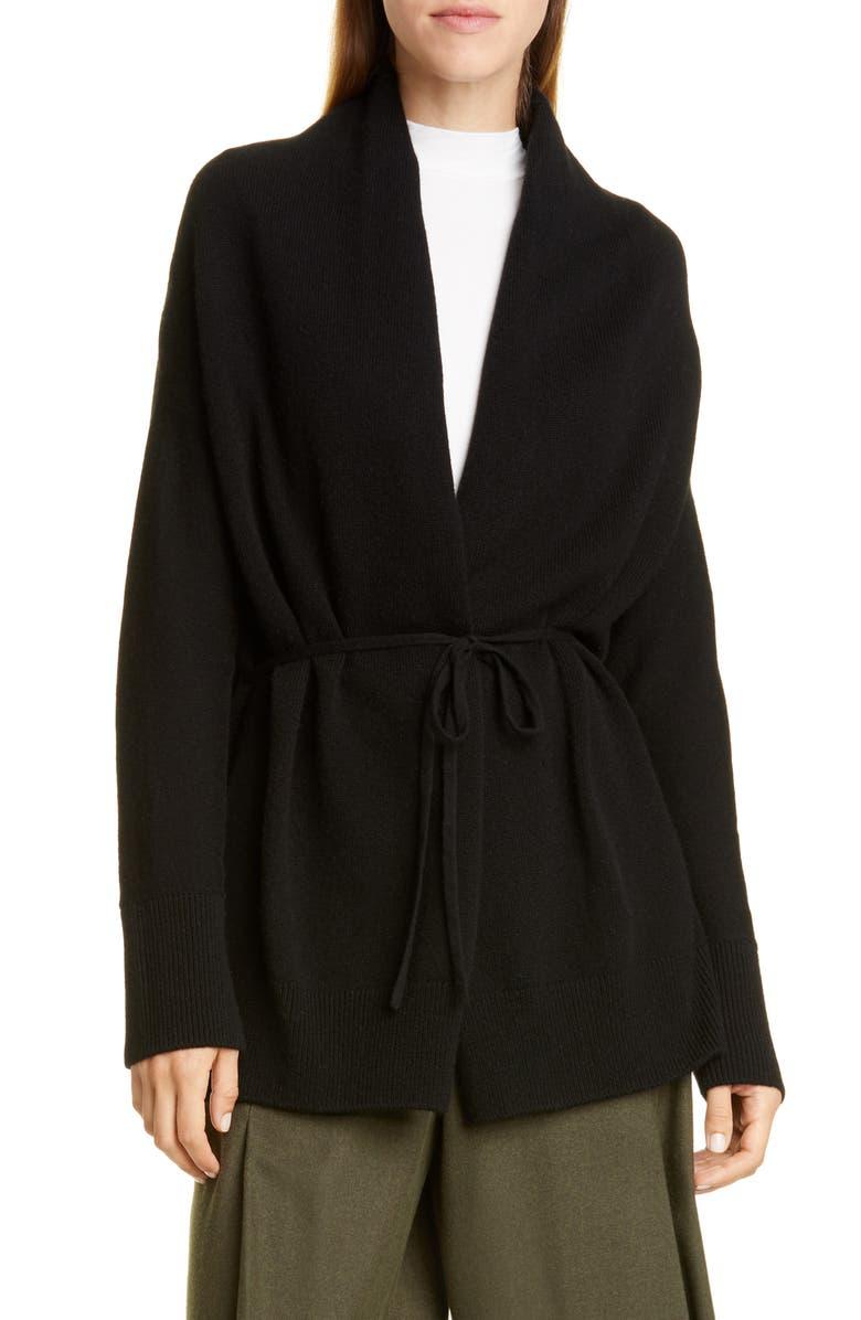 VINCE Wool & Cashmere Cardigan, Main, color, BLACK