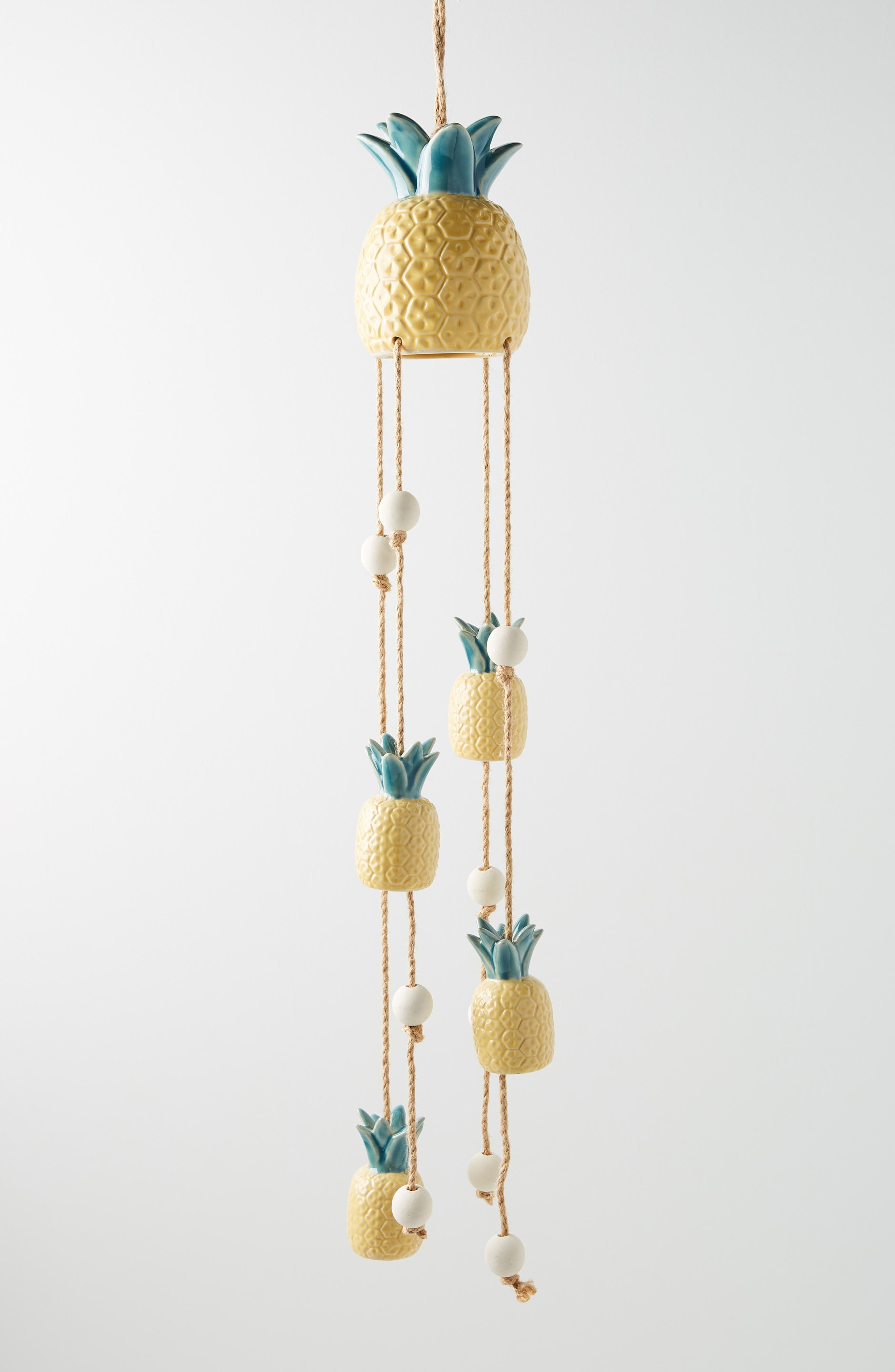 Pineapple Wind Chime, Main, color, YELLOW
